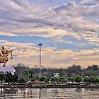 Lembuswana Statue of Kumala Island Tenggarong Kutai Kartanegara East Borneo Kalimantan by PutroGraph