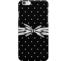 Black And White Polka Dots iPhone Case/Skin