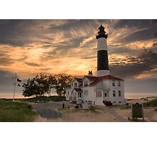Sunset on Big Sable Point Lighthouse Photographic Print