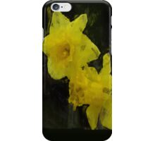 Yellow Daffodils Floral Impressionist Painting iPhone Case/Skin