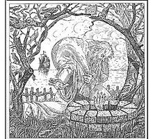 Skull Woodcut 5 by Spydergraphix