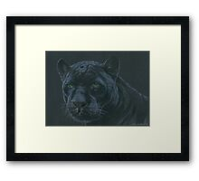 Panther colour pencil art Framed Print