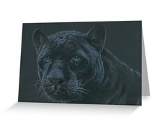 Panther colour pencil art Greeting Card