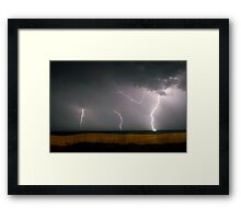 Lighting up the Outer Banks Framed Print