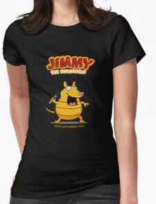 Jimmy the Parmadillo Womens Fitted T-Shirt