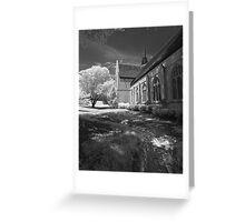 Bows Town Church Greeting Card