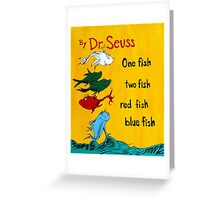 dr. seuss acrylic painting Greeting Card