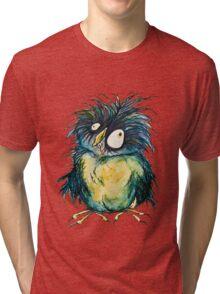 """earl"" the zombie owl Tri-blend T-Shirt"