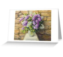 Still life with lilacs Greeting Card