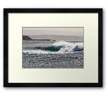 South Coast Slab Framed Print