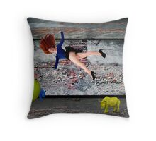 Small Rooms Throw Pillow