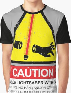 CAUTION: Handle With Care Graphic T-Shirt