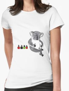 Claw Painting Koala Womens Fitted T-Shirt