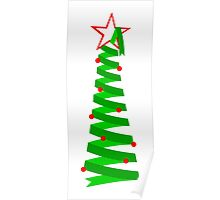 Spiral Holiday Tree Poster