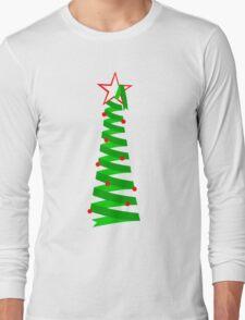 Spiral Holiday Tree Long Sleeve T-Shirt