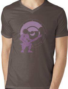 Bass Cadet with Speaker Amp Moon 2 Mens V-Neck T-Shirt