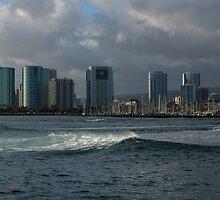 Sailing Into Honolulu, Hawaii by Georgia Mizuleva