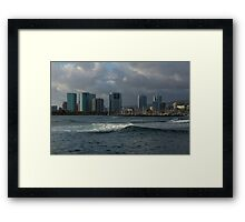 Sailing Into Honolulu, Hawaii Framed Print