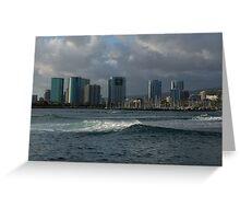 Sailing Into Honolulu, Hawaii Greeting Card