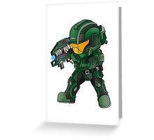 Halo Cute Art Greeting Card
