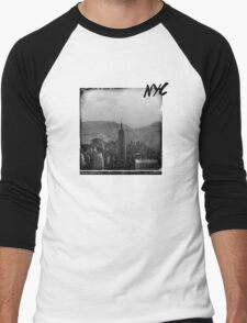 Wild Frontiers /// NYC Remixed Men's Baseball ¾ T-Shirt