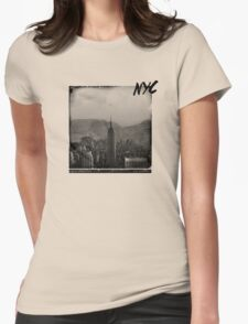 Wild Frontiers /// NYC Remixed Womens Fitted T-Shirt
