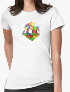 Rotating Cubes Womens Fitted T-Shirt