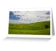Green Carpet Greeting Card