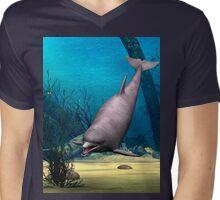 Dolphin Mens V-Neck T-Shirt