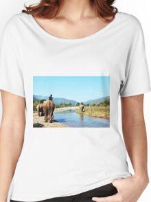 Elephant River Walk Women's Relaxed Fit T-Shirt