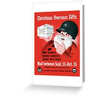 Santa Claus - Christmas Overseas Gifts  Greeting Card