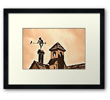 Chimney Ornament with Flutist and Bird Framed Print