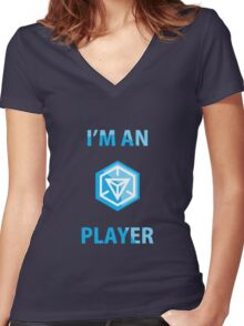 ingress player Women's Fitted V-Neck T-Shirt