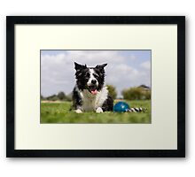 Zoë and her ball Framed Print