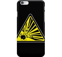 CAUTION: Risk of Explosion iPhone Case/Skin