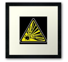 CAUTION: Risk of Explosion Framed Print