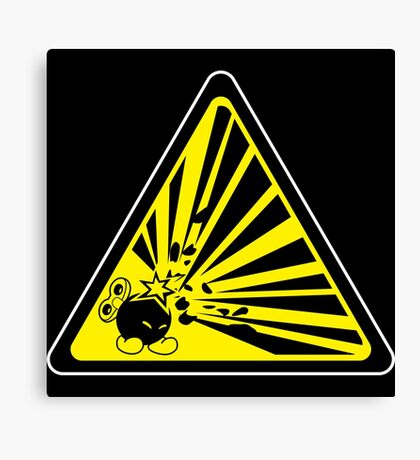 CAUTION: Risk of Explosion Canvas Print