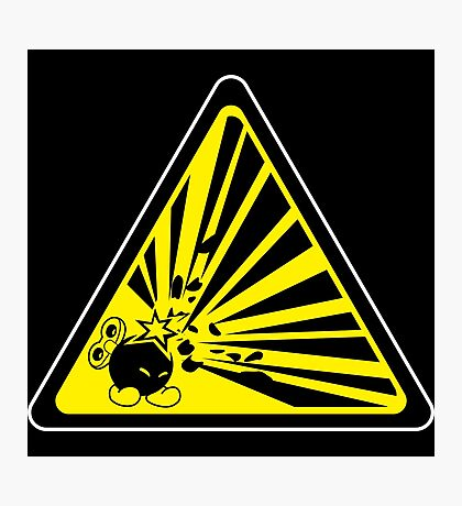 CAUTION: Risk of Explosion Photographic Print