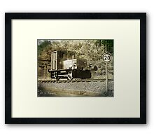 Old steam train  Framed Print