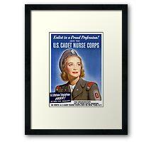 Join The U.S. Cadet Nurse Corps -- WW2 Framed Print