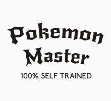 Self Trained Pokemon Master - Black by LucieDesigns