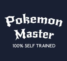 Self Trained Pokemon Master - White by LucieDesigns