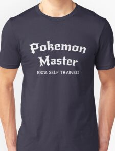 Self Trained Pokemon Master - White T-Shirt