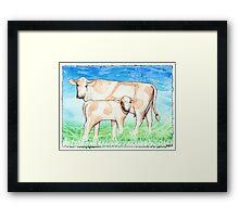 Asheville Moo-sic Framed Print