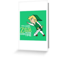 Call Me Zelda, Link Greeting Card