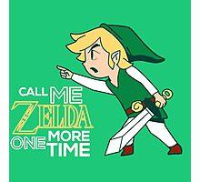 Call Me Zelda, Link Photographic Print