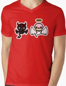 The Binding of Isaac - Angel and Devil Mens V-Neck T-Shirt