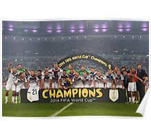 Germany World Cup 2014 Champions Picture Poster