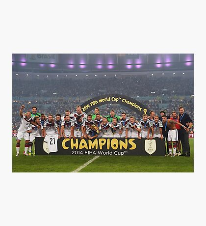 Germany World Cup 2014 Champions Picture Photographic Print