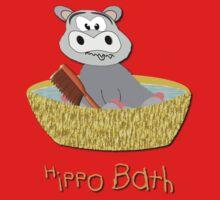 A Hippo Having a Bath T-shirt One Piece - Long Sleeve
